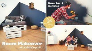 Room Makeover - Palettenmöbel streichen & lackieren - Farbsprühgeräte Test für Europaletten Möbel