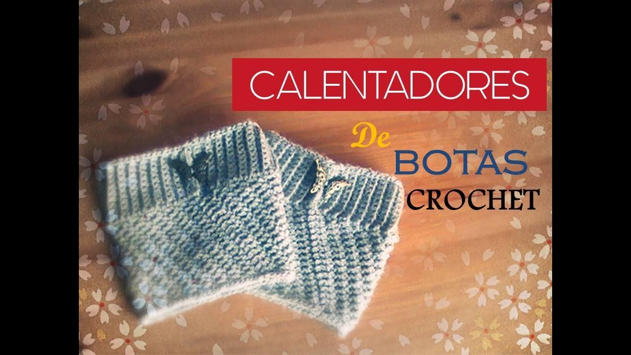 CALENTADORES para botas a CROCHET(diestro) - crochet boot cuff ...