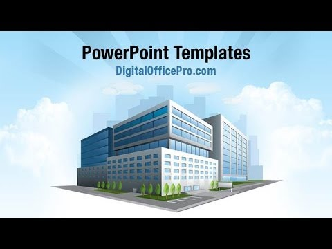 Office Building Tower Powerpoint Template Backgrounds Digitalofficepro 00212w Youtube