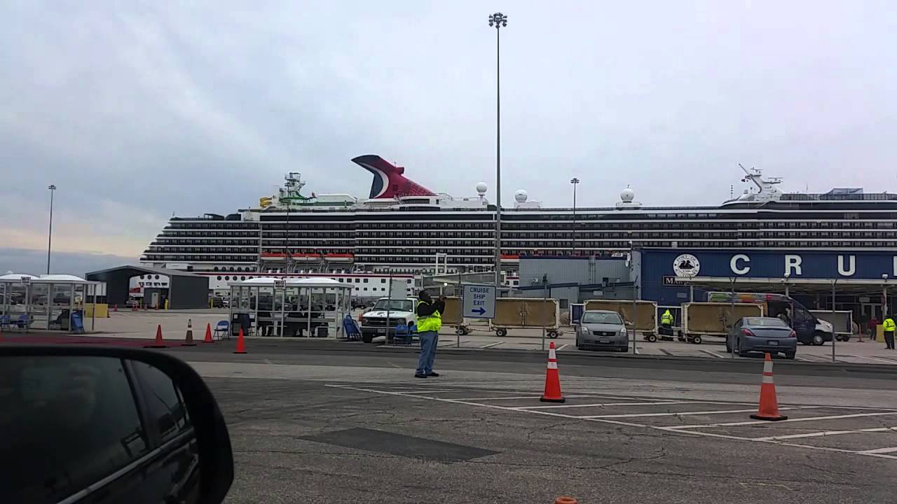 Carnival Pride Cruise Ship Baltimore Terminal YouTube - Parking at baltimore cruise ship terminal