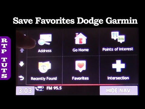 How to Save Create Delete Favorites on Garmin GPS Nav System 2016 Dodge Caravan Uconnect Touchscreen
