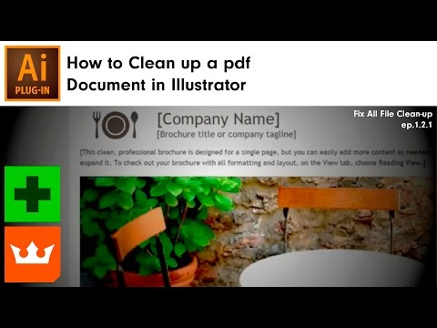 How to Clean up a pdf Document in Illustrator | VectorFirstAid - YouTube