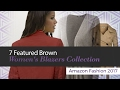 7 Featured Brown Women's Blazers Collection Amazon Fashion 2017