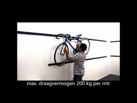 Favoriete Fiets tegen de muur ophangen met Kenovo Duratrax ophangsysteem LK64