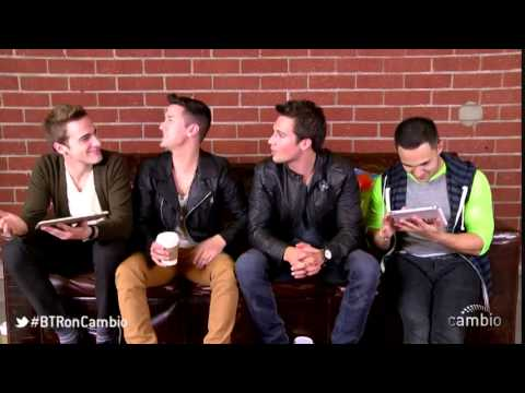Big Time Rush on Cambio Live Chat - April 15th, 2013