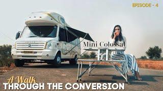 Caravan on #forcetraveller in India/A Walk Through the Conversion |Episode - 4 |MOTORHOME ADVENTURES