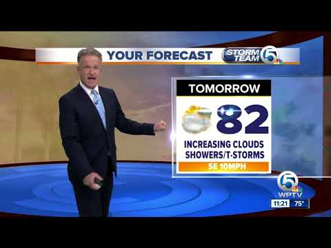 Thumbnail: Latest Weather Forecast 11 p.m. Wednesday