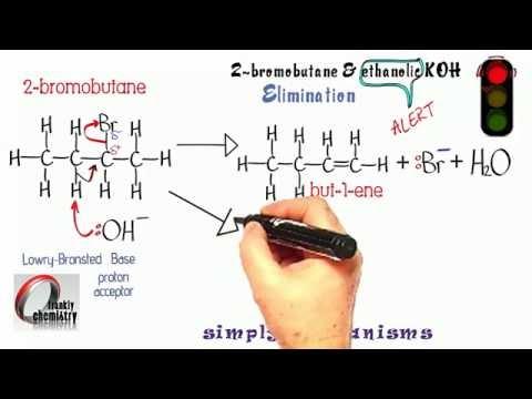 Simply Mechanisms 12b. Elimination reaction 2 (2-bromobutane & ethanolic KOH)