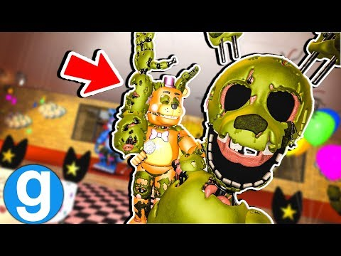 FNAF SPRINGTRAP WANTS TO ROCK! Five Nights at Freddy's Gmod Garry's Mod Gameplay thumbnail