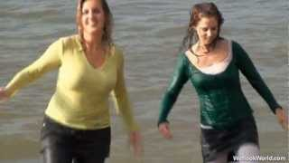 Repeat youtube video Two ladies in wet clothes