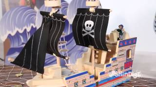 Wooden Deluxe Pirate Ship Play Set - Shindigz Party Supplies