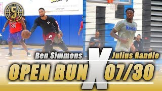 NBA open run Ben Simmons , Julius Randle, Rodney Hood and more