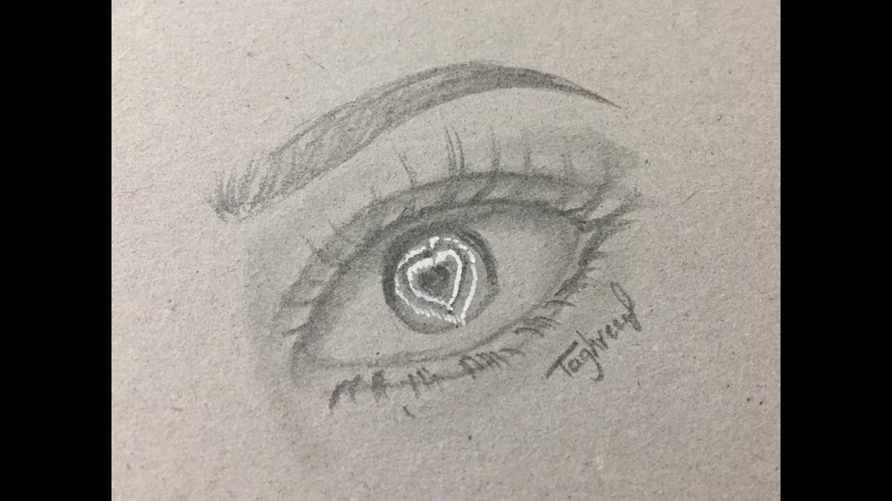 How to draw easy simple eyes