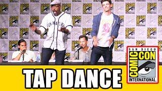 Grant Gustin & Jesse L Martin TAP DANCE Live at The Flash Season 3 Comic Con Panel