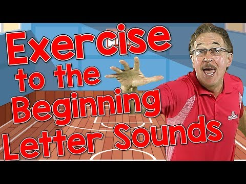 Exercise To The Beginning Letter Sounds   Phonics And Letter Sounds Song For Kids   Jack Hartmann