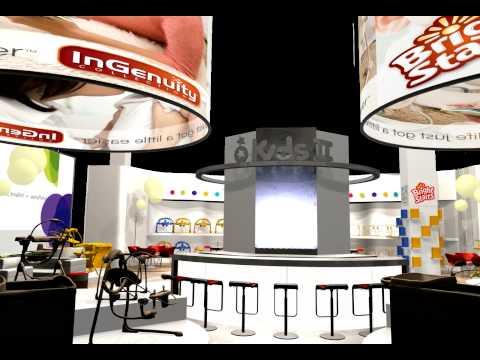 Exhibition Stand Design - Kids II 3D Fly-through