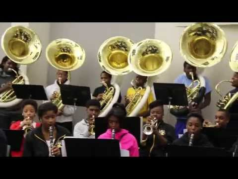 "Louisiana Leadership Institute All-Star Marching Band 2014 ""Houston MLK BOTB Prep"" Part. 1"