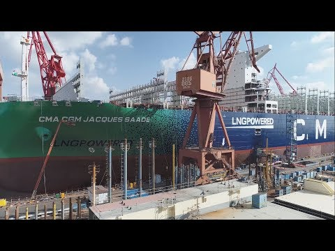 Building the world's largest LNG-powered containership