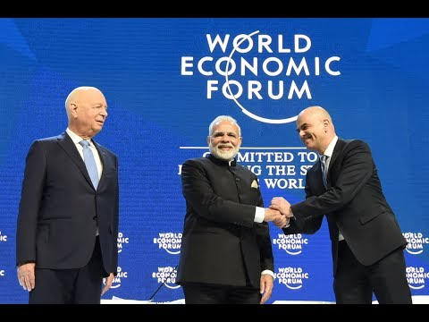 PM Modi addresses World Economic Forum Plenary Session, Davos