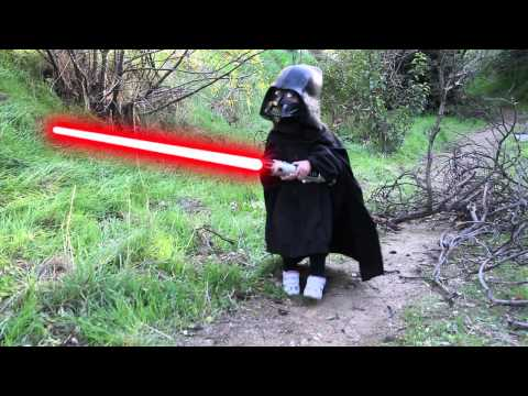Star Wars Kids - Young Sky Carter vs Lord Vader