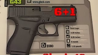 Initial Thoughts On The Glock 43, Single Stack 9mm Release (HD)