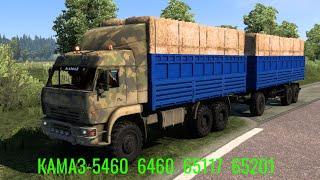 Euro Truck Simulator 2 Обзор мода (КАМАЗ 5460/6460/65117/65201) свои прицепы Nefaz