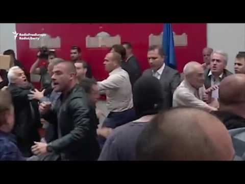 Macedonian Protesters Storm Parliament, Beat Party Leader