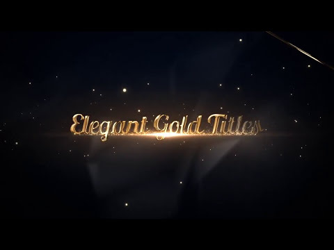 Elegant Gold Titles After Effects Templates