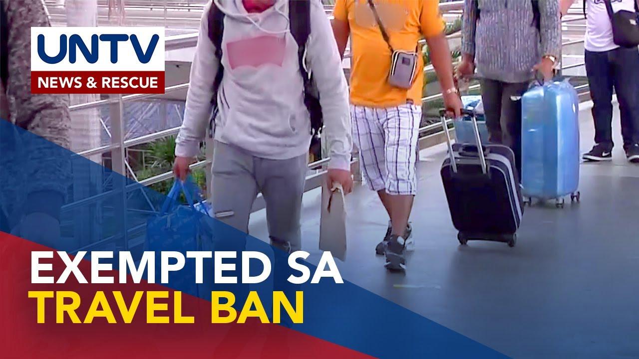 Download Mga exempted sa travel restrictions, tinukoy ng IATF