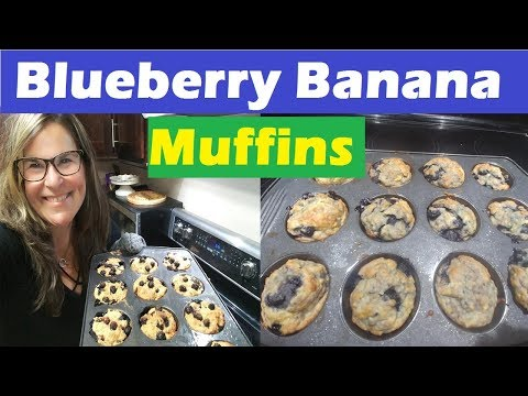 Low Fat Blueberry Banana Muffins Recipe (2 SP) - Banana Blueberry Muffins