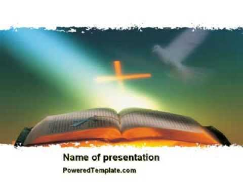 Bible With Holy Dove Powerpoint Template By Poweredtemplate