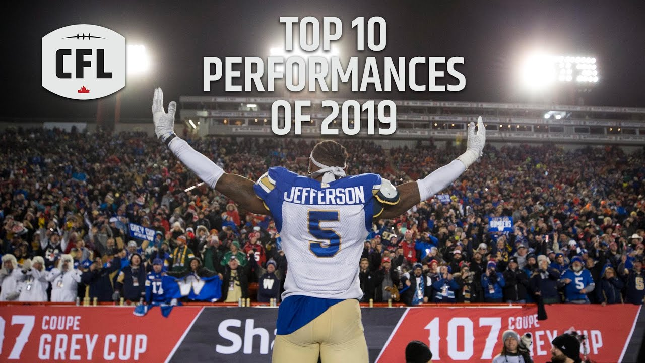 CFL Top 10 Performances of the 2019 season
