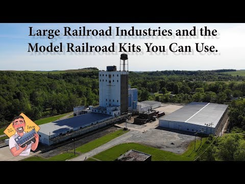 LARGE Railroad  Industries and Model Railroad Kits You Can Use.
