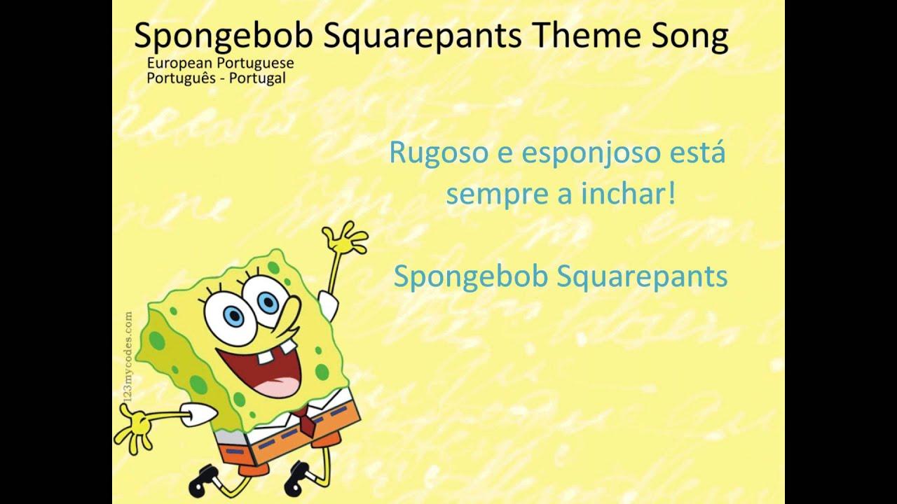 SpongeBob SquarePants Letra(lyrics) European Portuguese ...