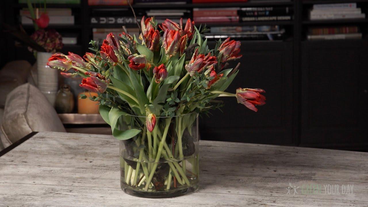 5 Mooie Vazen : Zo zet je tulpen perfect in een vaas youtube