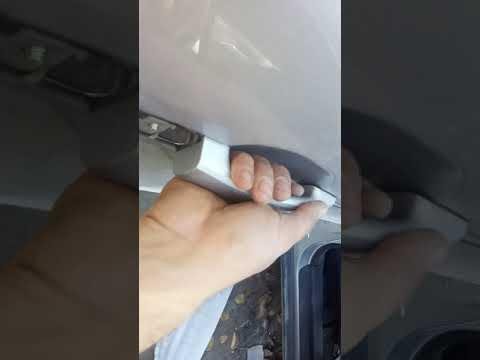 Как снять заднюю наружную ручку двери Chevrolet Captiva 2007г