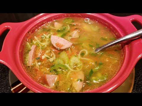 5 минутный суп в микроволновке. Рецепт Димы Кулинахера.