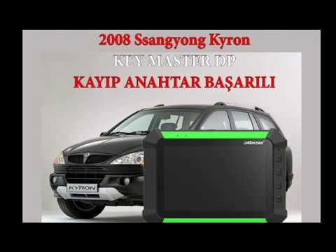 Ssangyong Kyron 2008 Kayıp (All Keys Lost) Key Master DP