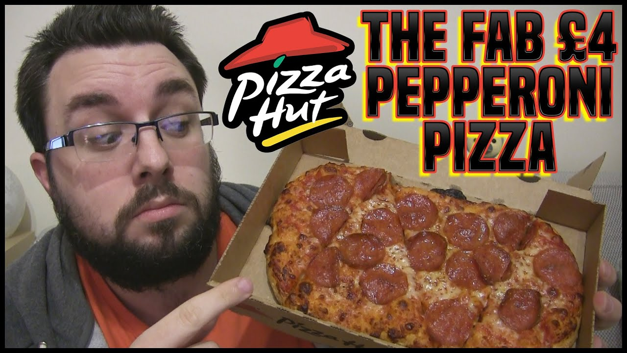 the fab 4 pepperoni pizza review pizza hut youtube. Black Bedroom Furniture Sets. Home Design Ideas