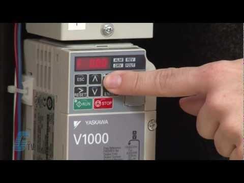 Yaskawa V1000 AC Drive Start-Up Auto-Tune Demonstration Using The Keypad