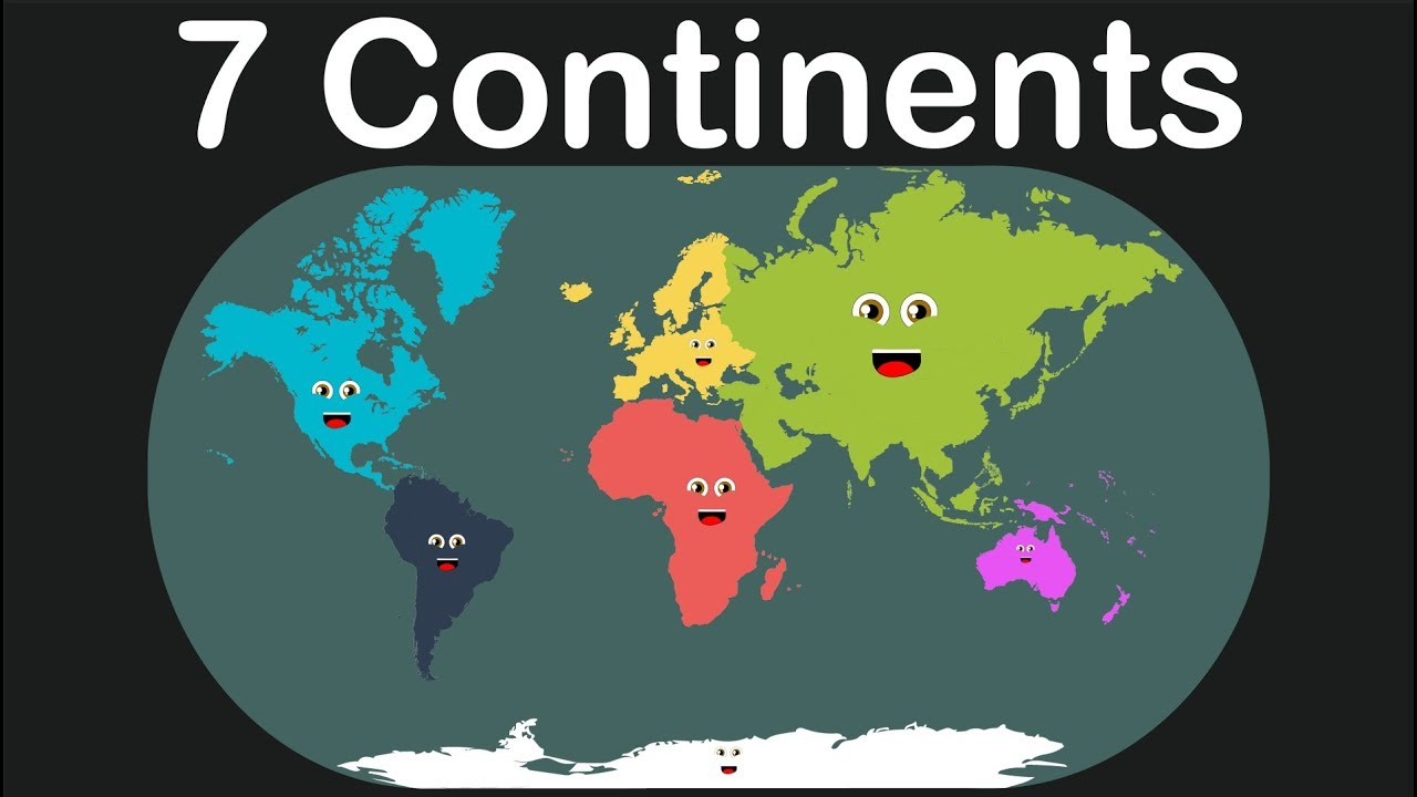 Kids Learning Tablet >> Seven Continents Geography/Kids Learning Tube - YouTube