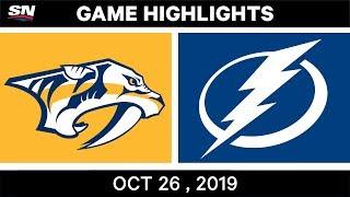 NHL Highlights   Predators vs Lightning - Oct. 26, 2019