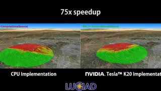 Luciad Line of Sight NVIDIA Tesla K20