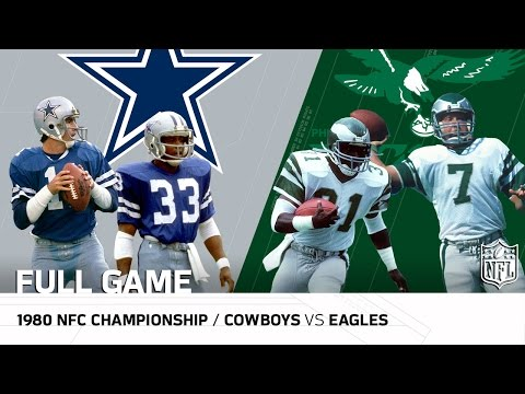 1980 NFC Championship: Dallas Cowboys vs. Philadelphia Eagles | NFL Full Game