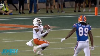 Miami's Jeff Thomas botches the punt return and gives Florida a gift, a breakdown
