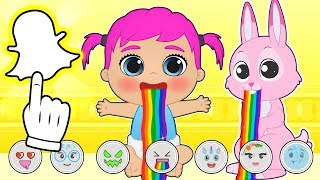 BABY PETS Ruby Takes Pictures with Snapchat Filters 💥 Games for kids
