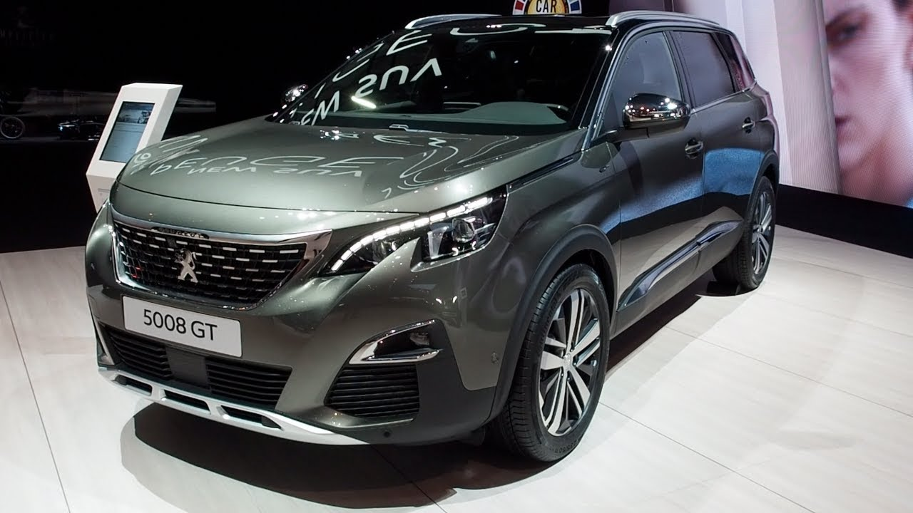 peugeot 5008 gt 2017 in detail review walkaround interior. Black Bedroom Furniture Sets. Home Design Ideas