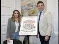 Calahorra La Rioja El cartel anunciador de las Fiestas de Marzo representa un Carrusel