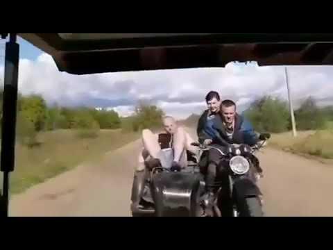 На мотоцикле в кусты, прикол года,смех,