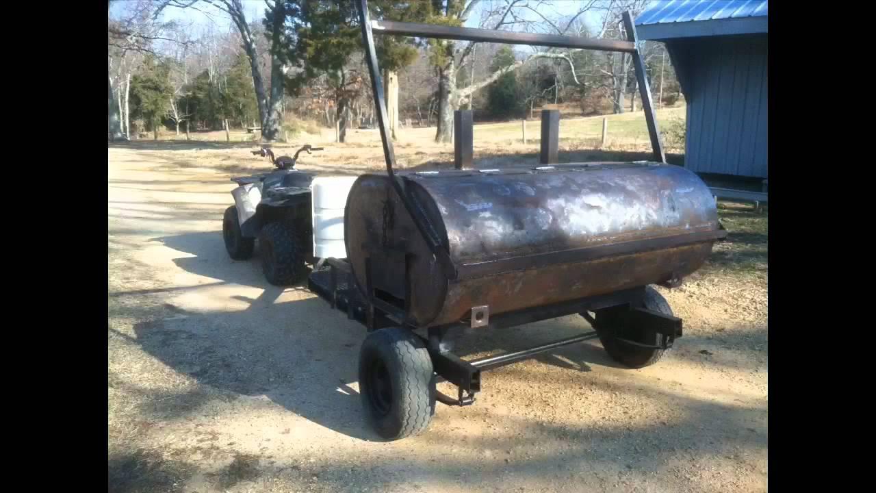 275 Gallon Oil Tank Smoker Youtube